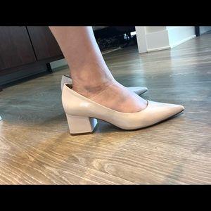 ASOS Shoes - ASOS SIMPLY Block Mid Heels Nude/Cream